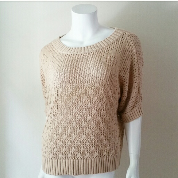 453a9f2c1ba1 Forever 21 Sweaters - Forever 21 Tan Crochet Oversized Sweater